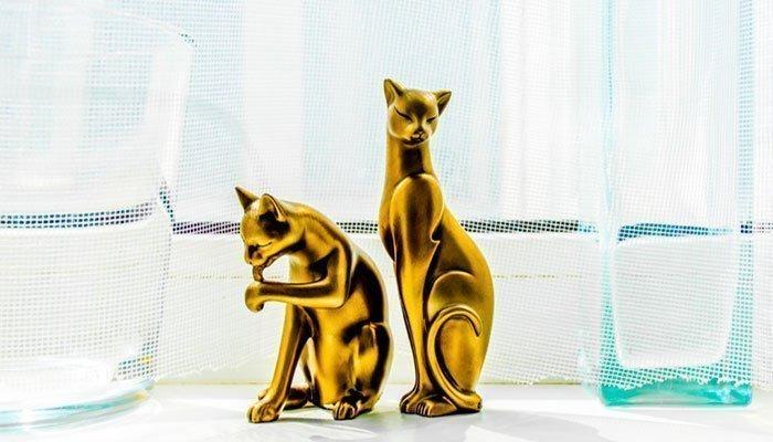 Керамика статуэтки кошек